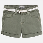 Mayoral Girl's Twill Shorts - Olive