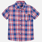 Mayoral Baby Boy Checked Shirt - Watermelon