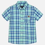 Mayoral Baby Boy Checked Shirt - Ice Green