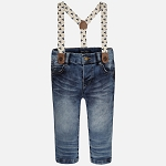 Mayoral Baby Boy Suspender Jeans - Palms