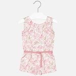 Mayoral Blush Floral Romper