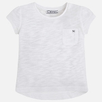 Mayoral Girl's Basic Tee - Natural