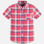 Mayoral Checked Shirt - Watermelon
