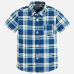 Mayoral Checked Shirt - Ocean