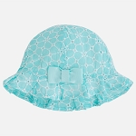 Mayoral Baby Girl Ruffle Hat with Bow - Tiffany Blue
