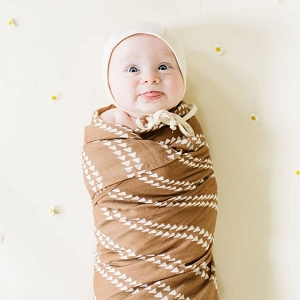 Arrow Mocha Brown Swaddle