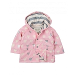 Hatley Raincoat - Metallic Hearts