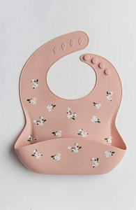 White Flower Silicone Bib