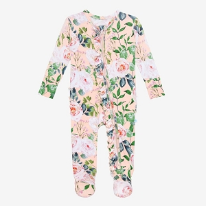 Posh Peanut Harper Footie Ruffled Zippered One Piece