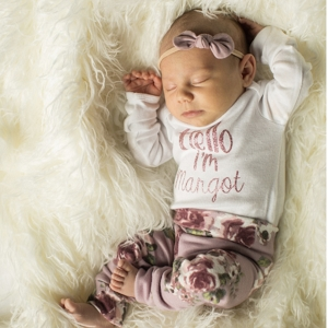 Personalized Floral Take Home Outfit - 3 Piece Set