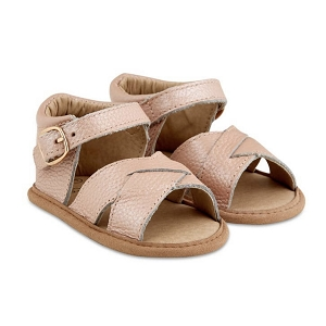 Blush Split-Soled Leather Baby Sandals