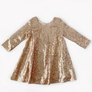 Rose Gold Holiday Sparkle Dress
