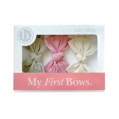My First Bows Gift Set - Mushroom, Zinna & Oatmeal