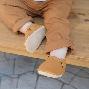 Gingersnap Fringeless Baby Moccasins