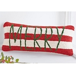 Merry Hooked Pillow