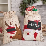 Mud Pie Personalizable Canvas Gift Sack