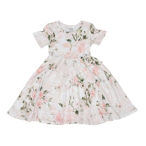 Pink Rose Twirl Dress
