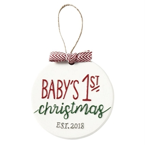 Mud Pie Baby's First Christmas Ornament 2018