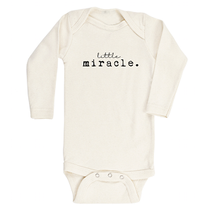 Little Miracle Long Sleeve Clay Onesie