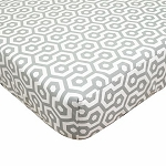 ABC Crib Sheet - Grey Honeycomb