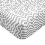 ABC Crib Sheet - Grey Zig Zag
