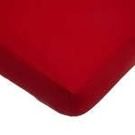 ABC Cotton Jersey Crib Sheet - Red