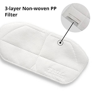 3-layer Non-woven PP filter inserts for Kids masks