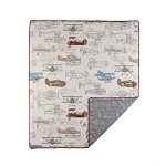 Living Textiles Quilted Comforter - Aeroplanes