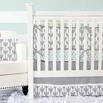 Caden Lane Gray Arrow Baby Bedding