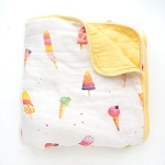 Luxe Bamboo Muslin Quilt - Ice Cream