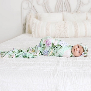 Posh Peanut Erin Swaddle & Headband Set