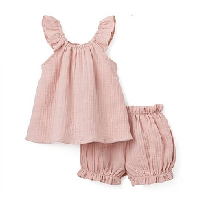 Muslin Flutter Set - Blush