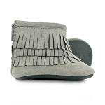Baby Moccs Booties - Smoky