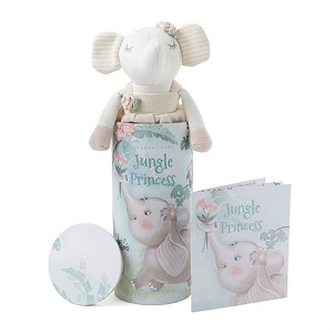 Princess Elephant Baby Knit Toy w/ Gift Box