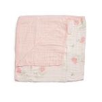 Little Unicorn Deluxe Muslin Quilt - Pink Peony