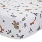 Little Unicorn Muslin Crib Sheet - Forest Friends