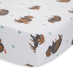 Little Unicorn Muslin Crib Sheet - Bison