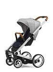Mutsy Igo Urban Nomad - Silver Chassis with Brown Handle & Grey Seat (Floor Model)