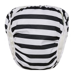 GroVia Swim Diaper - Onyx Stripe