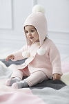 Elegant Baby Knit Outfit - Pink