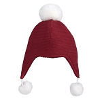 Elegant Baby Aviator Pom Pom Hat - Red