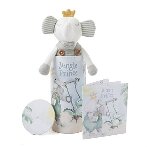 Prince Elephant Baby Knit Toy w/ Gift Box