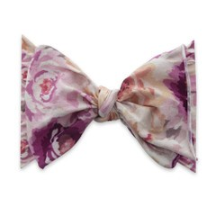 Limited Edition! Big Knot Bow - Plum & Gold