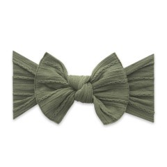 Cable Knit Bow Knot Headband - Army Green