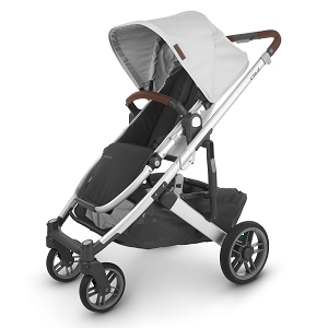 UPPAbaby Cruz V2 Stroller - Bryce (White Marl/Silver/Chestnut Leather)