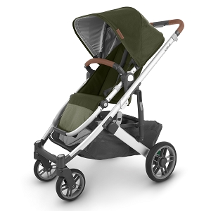 2020 UPPAbaby Cruz V2 Stroller - Hazel (Olive/Silver/Saddle Leather)