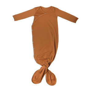 Camel Newborn Knotted Gown