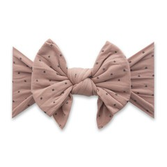 Enormous Bow Headband - Putty & Black Dots
