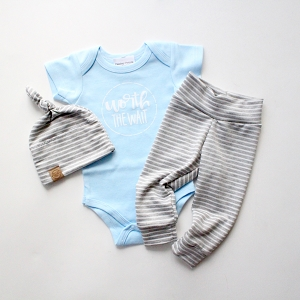 Worth the Wait Onesie - Blue