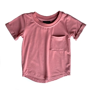 Pocket Basic Tee - Rose